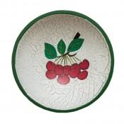 Cseresznyés tányér fából
