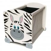 Játéktároló láda Zebra